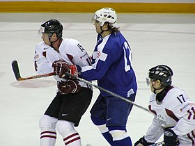 Latvia VS Slovenia at the IIHF World Hockey Championship 2008 - David Rodman.jpg