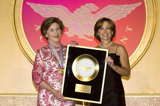 Laura Bush and Dorothy Hamill
