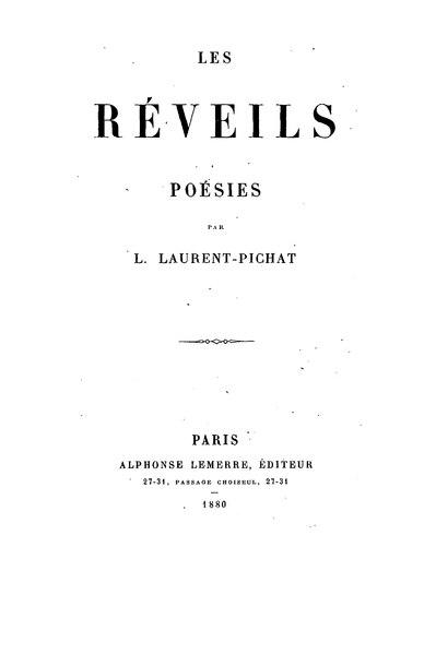File:Laurent-Pichat - Les Réveils, 1880.djvu
