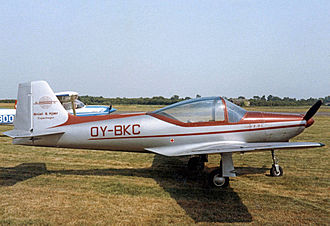 Sequoia Falco - Laverda-built Falco IV from Denmark attending a UK air rally in 1984
