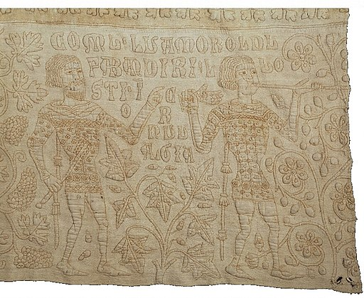 Le Tristan quilt Noble et son hérault 1395