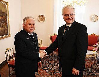 Ivo Josipović - Polish President Lech Kaczyński with Ivo Josipović in 2010