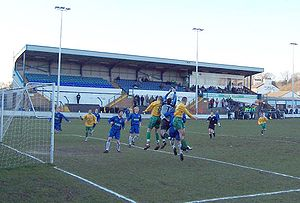 Marine F.C. - Marine (yellow shirts) playing away against Leek Town in 2006