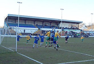 Marine F.C. - Marine (yellow shirts) playing away against Leek Town in 2006