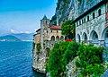Leggiuno Monastero di Santa Caterina del Sasso Chiesa Esterno 2.jpg