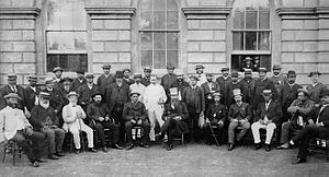 Paul P. Kanoa - Paul P. Kanoa pictured with the Legislature of the Kingdom of Hawaii in 1886