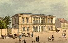 Das Römische Haus in Leipzig (um 1850) (Quelle: Wikimedia)