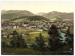 Leoben - Leoben around 1900.
