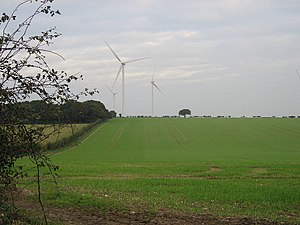 English: Let The Wind Blow Wind turbines seen ...