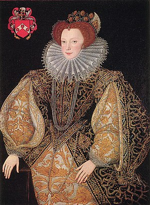 Lettice Knollys - Lettice Knollys as Countess of Leicester, c. 1585 by George Gower