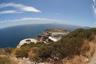 Levant Battery - Image: Levant Battery and Windmill Hill, Gibraltar