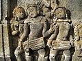 Level 1, Inner Wall Bottom - Borobudur - 113 Divyavadana, North Wall, Panel 83, Rudrayana (detail, far left) (8598670223).jpg