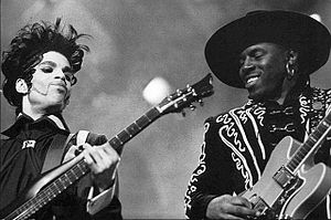 Levi Seacer Jr. - Prince (left) with Seacer in 1993