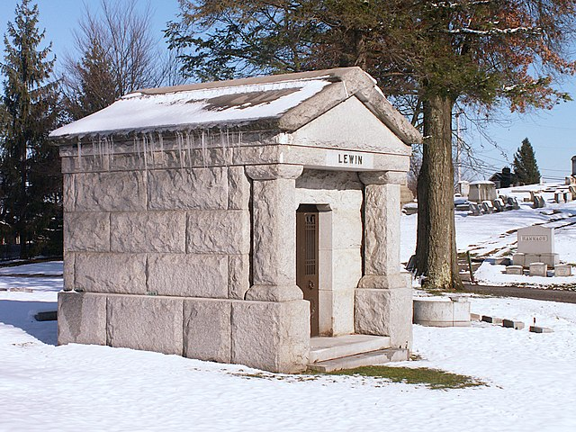 Lewin mausoleum, West View Cemetery
