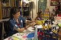 Liat Binyamini Ariel preparing paper-mache sculpture.jpg