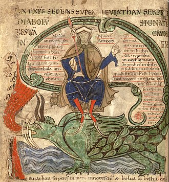Leviathan - Antichrist on Leviathan, Liber floridus, 1120