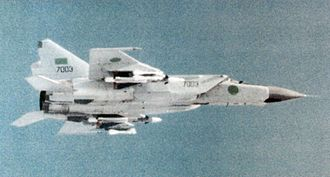 Libyan Air Force - A Jamahiriya Mikoyan-Gurevich MiG-25.