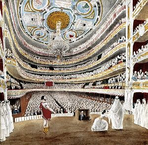 Liceu - View of the house from the stage, 1847