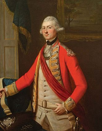 John Ross (1744–1809) - Portrait of John Ross by David Martin, (1768). Ross is in the uniform of a lieutenant of the 34th Foot Grenadier Company