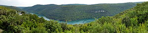 Lim (Croatia) - Lim panoramic view seen from observation platform
