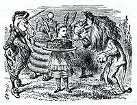 Алиса в стране чудес лев и единорог