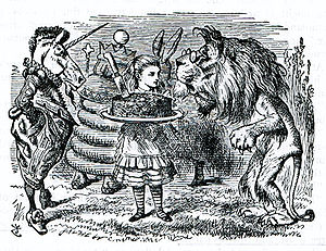 The Lion and the Unicorn - John Tenniel's illustration for Through the Looking-Glass.
