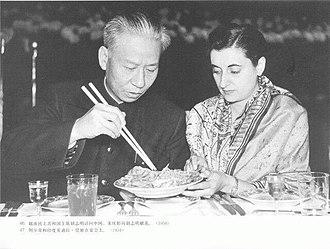 Liu Shaoqi - Liu Shaoqi and Indira Gandhi, 1954