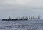 Live ordnance is dropped in the Pacific Ocean near USS Nimitz (CVN-68) on 1 December 2017 (171201-N-ZR324-047).JPG