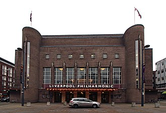 Philharmonic Hall, Liverpool - The building's facade after the 2014 renovation.