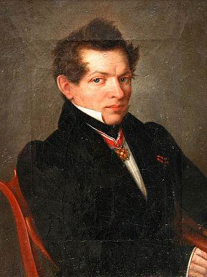 Nikolai Lobachevsky - Portrait by Lev Kryukov (c. 1843)