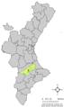 Localització d'Agullent respecte del País Valencià.png