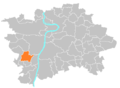 Location map municipal district Prague - Slivenec.PNG