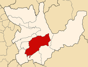 Huánuco Province - Image: Location of the province Huánuco in Huánuco