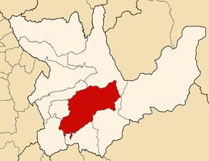 Huallaga Quechua - Image: Location of the province Huánuco in Huánuco