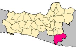 Wonogiri Regency - Image: Locator kabupaten wonogiri