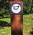 """Logo """"Pot miru"""", der Friedensweg von den Alpen in Slowenien zur Adria in Italien, Europäische Union.jpg"""