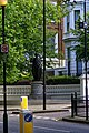 London - Holland Park Avenue - View East towards St. Volodymyr the Great Statue 1988 by Leonard Moll.jpg