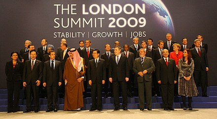 The G20 meetings are composed of representatives of each country's executive branch. Dmitry Medvedev 2 April 2009-1.jpg