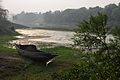 Lone Boat on Riverbank Churni - Halalpur Krishnapur - Nadia 2016-01-17 9054.JPG