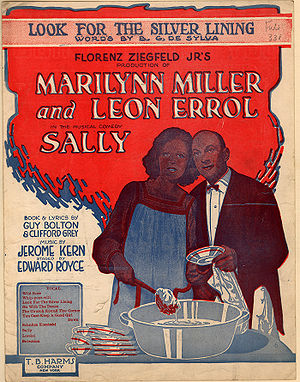 Look for the Silver Lining - 1920 sheet music cover