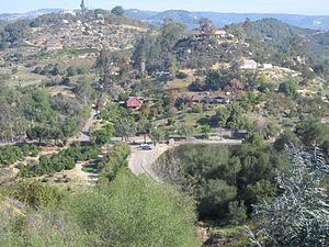 De Luz Heights, California - View north of De Luz Heights and Ross Lake.