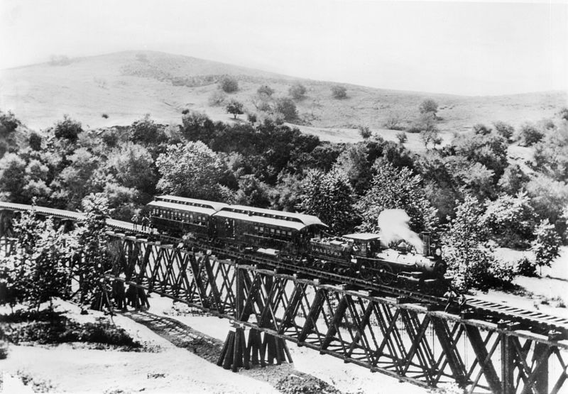File Los Angeles And San Gabriel Railroad Train On The