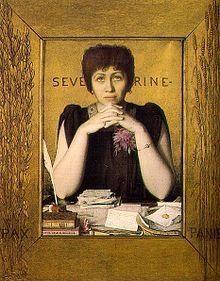 Caroline Rémy (Séverine) Retrato de Louis Welden Hawkins a partir de 1895