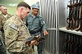 Lt Gen. William B. Caldwell, IV, NATO Training Mission Afghanistan commander inspects an AK-47.jpg