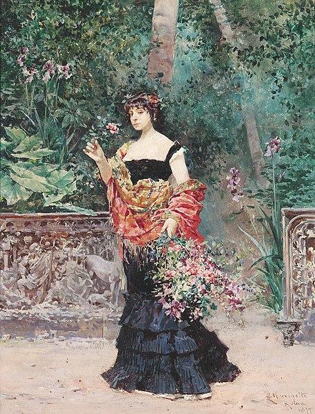 File:Ludovico Marchetti Elegante Dame im Park 1899.jpg
