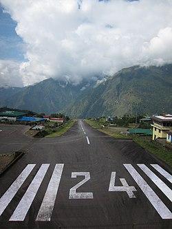 Lukla airport runway.jpg