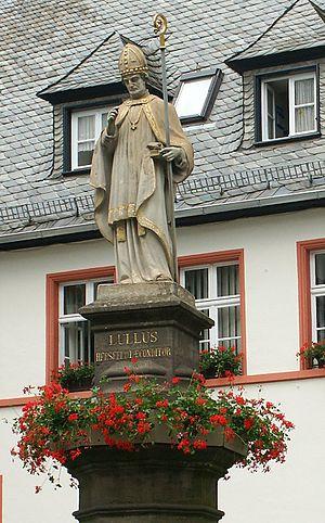 Lullus - Statue of Saint Lullus in Bad Hersfeld