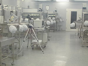 Part of the cleanroom lunar sample processing ...