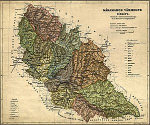 Northern Maramuresh - Máramaros vármegye (county) in 1912 (map in Hungarian).