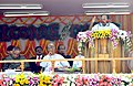 M. Veerappa Moily addressing at the dedication ceremony of the 726 MW Palatana Power Plant of ONGC Tripura Power Corporation to the Nation, at Palatana, South Tripura. The President.jpg